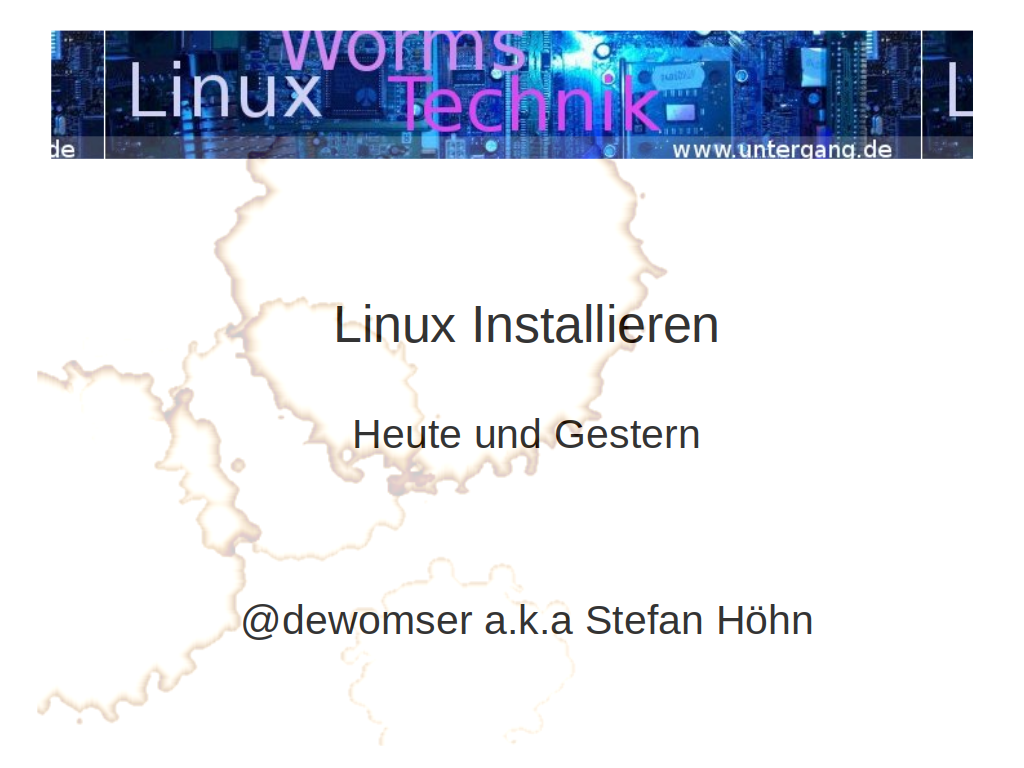 Linux in der VHS-Worms